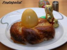 Osternest aus Hefeteig mit Ei - Rezept