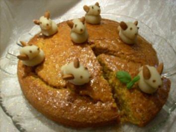 Rübli-Torte mit Hasenparade - Rezept