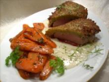 "Filet ""Springtime"" mit karamelisierten Möhren - Rezept"