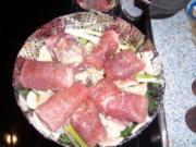 Gemüse und Schweineröllchen, gedämpft - Rezept