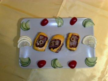 Bacon in Käsebett auf Schweinefilet - Rezept