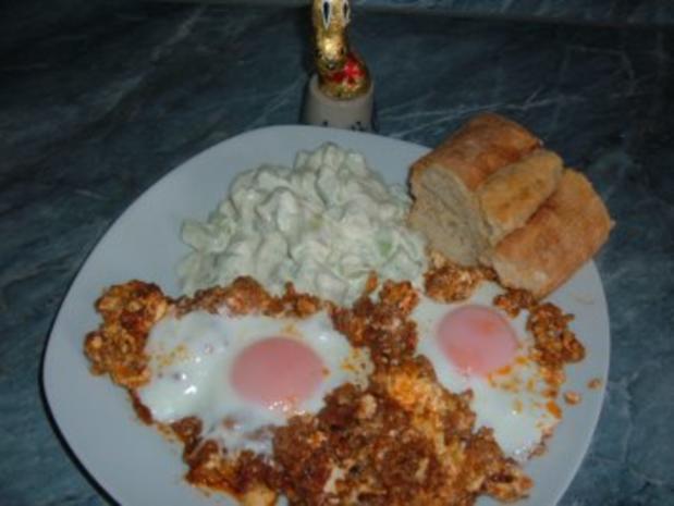 Eier im Hackfleisch-Nest - Rezept