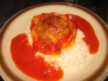 Fleisch: Paprika mit viel scharfer Sosse - Rezept