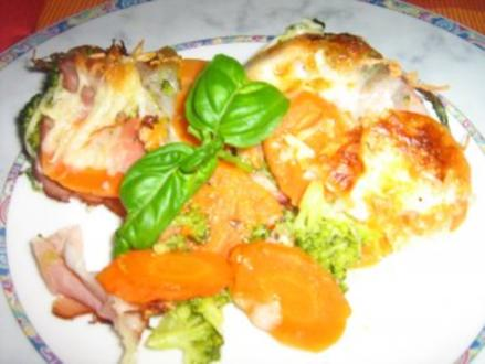 Broccoli-Karotten-Schinken Auflauf - Rezept