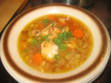 Suppe: Gebratenes Hendlbein Süppchen! - Rezept