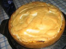 Käse-Manderinen-Kuchen mit Baiserhaube - Rezept