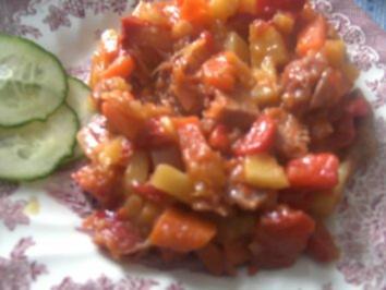 Kartoffel-Gemüse Pfännchen aus Resten - Rezept