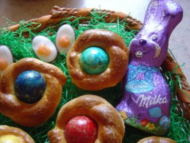 Oster-Eier-Muffin-Nest - Rezept