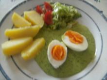 Grüne Soße mit Ei und Kartoffeln   Salatbeilage - Rezept
