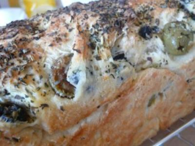 Ciabatta-Oliven-Brot - Rezept