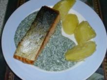 Lachs mit grüner Sauce - Rezept