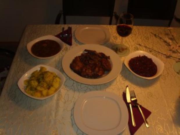 Fleischgerichte: Kaninchen in Rotwein geschmort - Rezept - Bild Nr. 5
