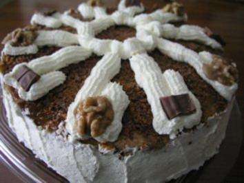 Daim-Wallnuss-Torte - Rezept
