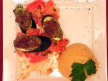 Zucchini unter Nuss-Käsekruste, umgarnt von Hirse - Rezept - Bild Nr. 9