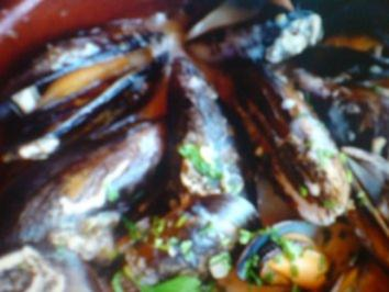 Rezept: Muscheln in Weißweinsosse