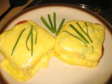 Brotzeit/Snack: Käse-Salami-Toast - Rezept