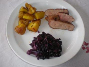 Entenbrust mit Rotweinzwiebeln - Rezept