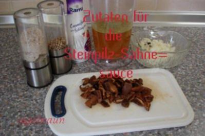 Steinpilz-Sahnesauce - Rezept
