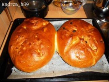 Osterbrot mit und ohne Rosinen - Rezept