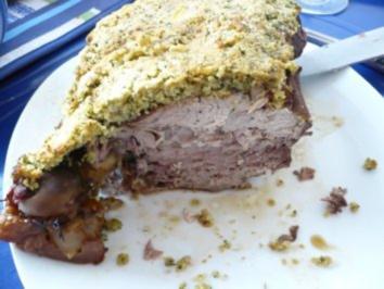 Lammkeule mit Kräuterkruste - Rezept