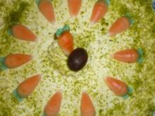 Schnelle Buttercreme mit Nussnougatschicht - Rezept