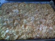 Blechkuchen - Apfel-Steusel mit Quark - Rezept