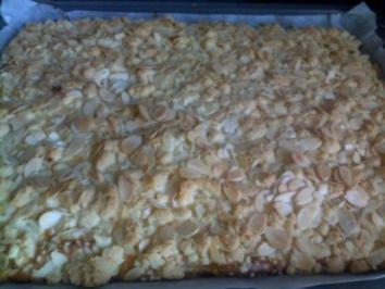 Rezept: Blechkuchen - Apfel-Steusel mit Quark