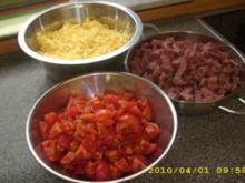 Nudelauflauf mit Salami und frischen Tomaten - Rezept