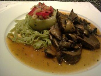 Rezept: Geschmorte Rinderbrust mit gefüllten Kohlrabi