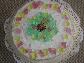 """Quark-Sahne Torte """" Konfetti"""" - Rezept"""