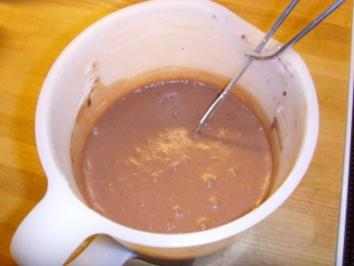 Espresso/ Schokopudding mit Mangomus.... - Rezept