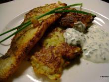 Fisch: Zanderfilet auf Kohlrabipuffer mit Schnittlauchcreme - Rezept
