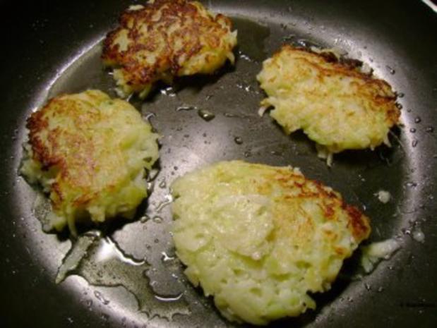 Fisch: Zanderfilet auf Kohlrabipuffer mit Schnittlauchcreme - Rezept - Bild Nr. 3