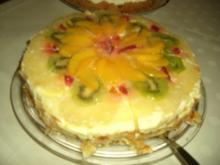 Torte : Früchte - Sekt - Torte  ( Nr. 5 ) - Rezept