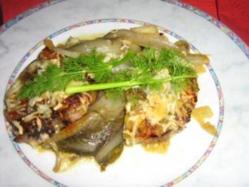 Lammkoteletts auf Chicorée - Fenchel Gemüse - gratiniert - Rezept