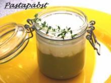Erbsen-Curry-Suppe mit Minz Schaum - Rezept