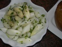 Salatbar:   SPARGELSALAT - Rezept
