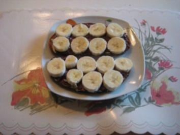 Bananen Brot mit Nuss - Nougat - Creme - Rezept