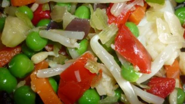 Rindfleischsuppe mit chinesischem Gemüse und grünen Spargeltortelloni - Rezept - Bild Nr. 3