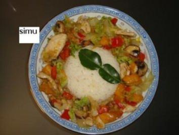 Curry-Kokos-Huhn - Rezept