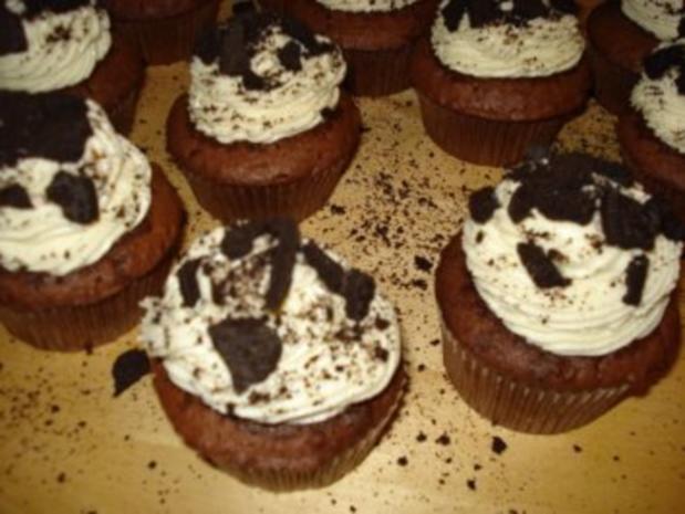 Oreo Cupcakes (12 Stück) - Rezept