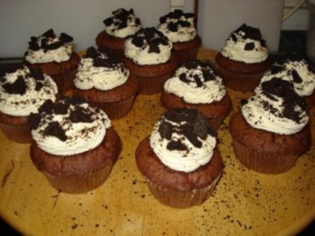 Oreo Cupcakes (12 Stück) - Rezept - Bild Nr. 2