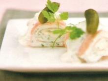 Schinkenröllchen mit Cornichon Mayonnaise - Rezept