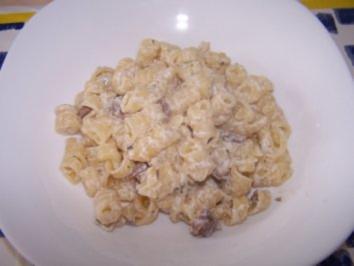 Rezept: Nudeln mit Ricotta-Pilz-Sauce nach meiner ART