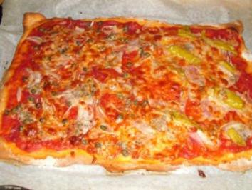 Pizza halb und halb - Rezept