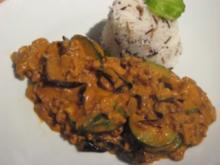 Zuccini-Auberginen-Gemüse mit Hackfleisch - Rezept
