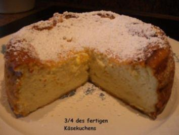 KuchenZwerg :  KÄSEKUCHEN ohne Boden - Rezept