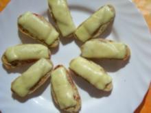 Zwischensnack: Schinken-Käse-Bruscetta, überbacken - Rezept