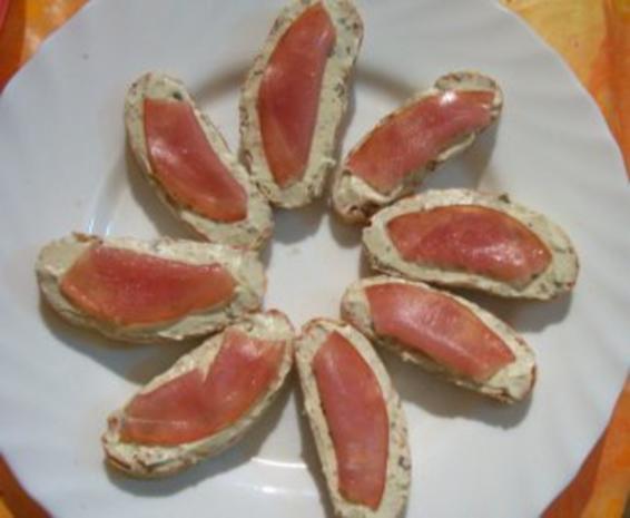 Zwischensnack: Schinken-Käse-Bruscetta, überbacken - Rezept - Bild Nr. 5