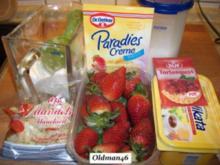 Erdbeerkuchen mit selbstgemachten Mürbeteig - Rezept